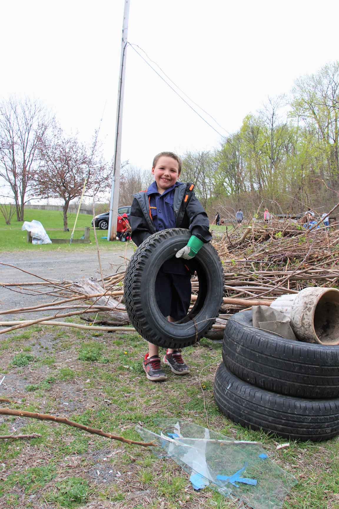 Tire recycling in Waterford